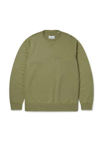 Classic Sweat in Oil Green