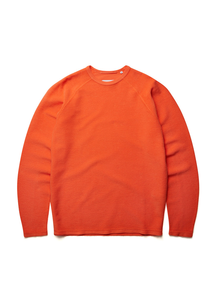 New - Reversed Loopback Sweatshirt in Nasturtium