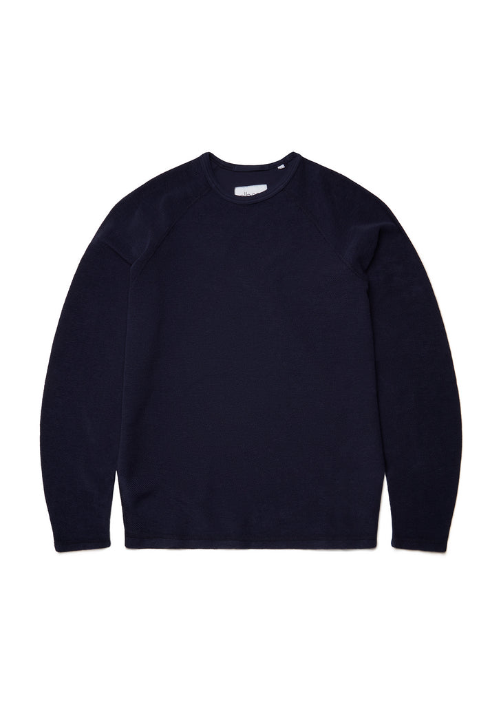 Reversed Loopback Sweatshirt in Peacoat