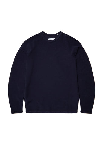 New - Reversed Loopback Sweatshirt in Peacoat