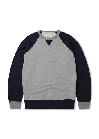 Vintage Heavy Weight Sweatshirt in Navy/Grey Marl