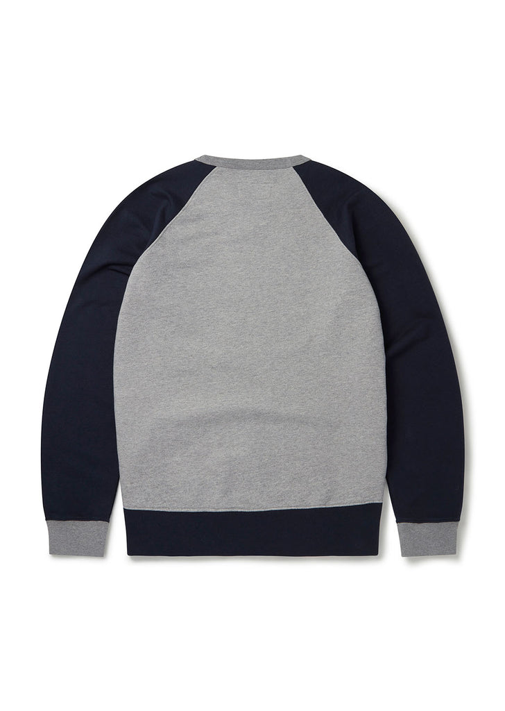 Vintage Sweatshirt in Navy/Grey Marl