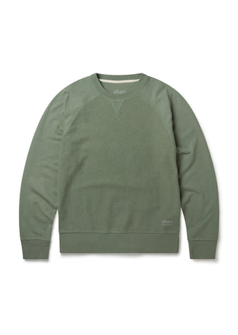 Utility Raglan Sweat in Overall Green