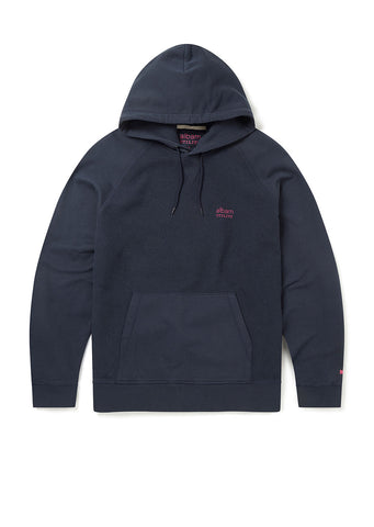 Utility Raglan Hooded Sweatshirt in Navy