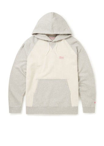 Utility Raglan Hooded Sweatshirt in Grey Marl