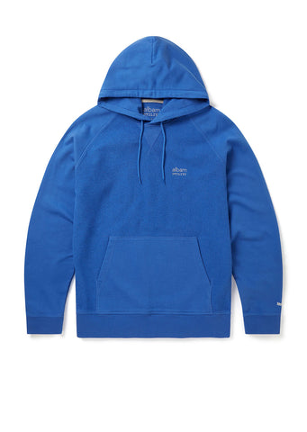 Utility Raglan Hooded Sweatshirt in Bold Blue