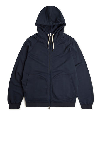 Archive Zip Hoody in Navy