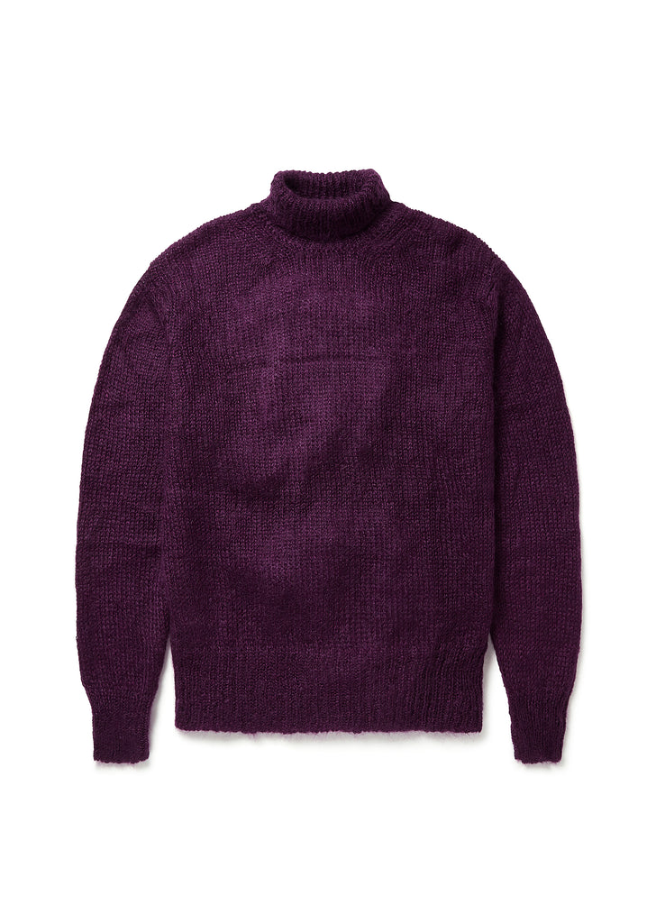 Mohair Funnel Neck in Merlot