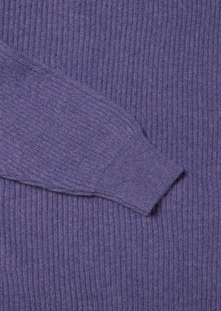 Ribbed Crew Neck in Heliotrope