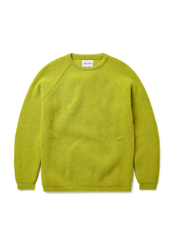 Tuck Rib Merino Crew in Citron