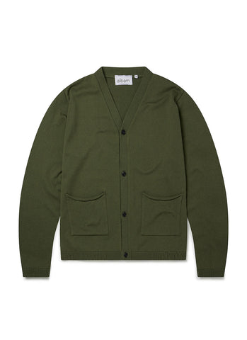 Noragi Cardigan in Bottle Green