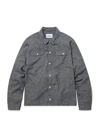 Press Slub Shirt in Navy