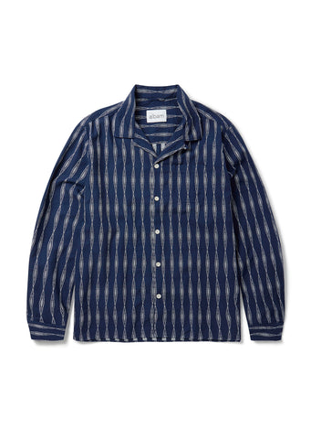 New - Camp Collar Shirt in Navy Aztec