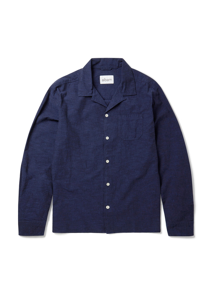 New - Camp Collar Shirt in Navy