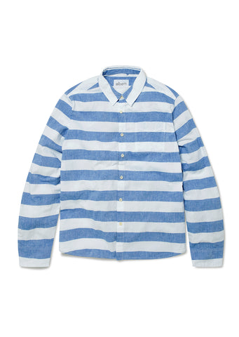 Hockney Shirt in Navy Stripe
