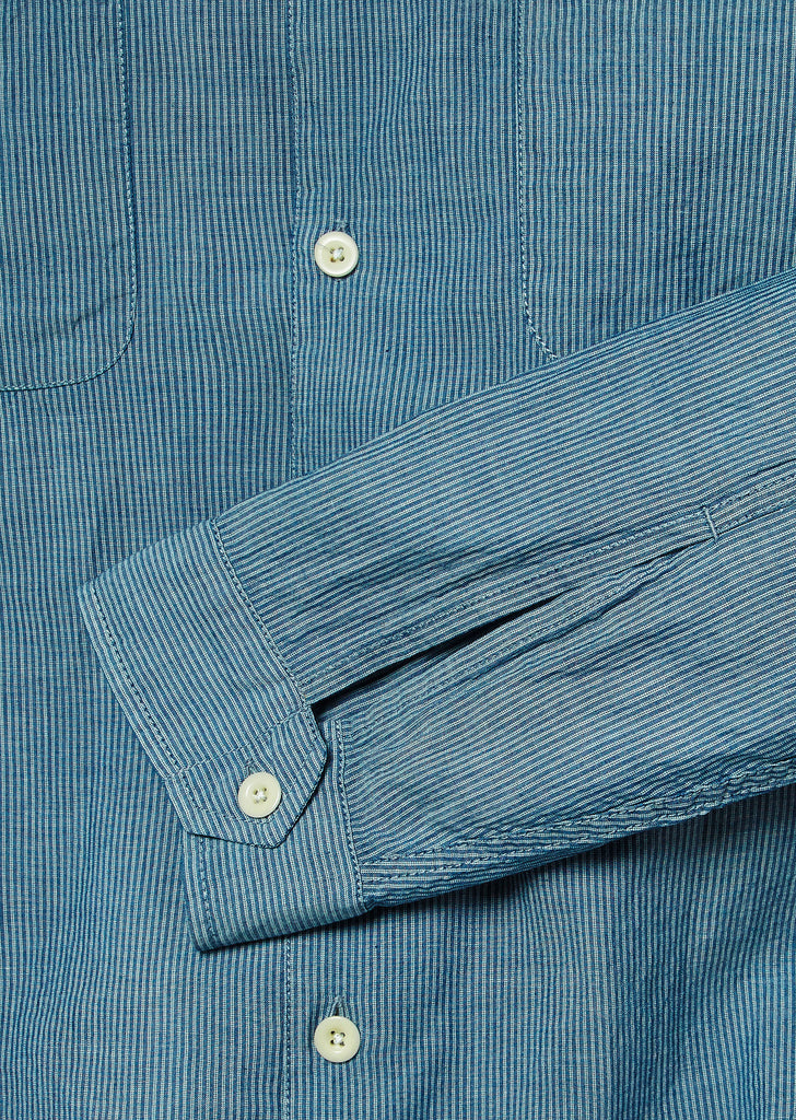 Press Stripe Shirt in Blue