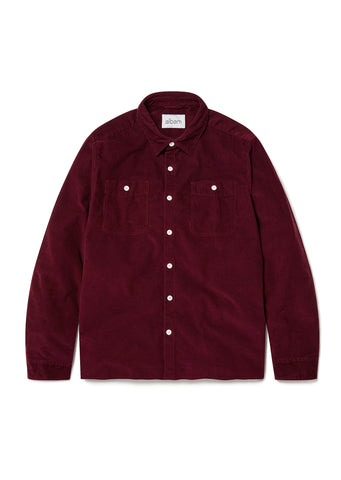 Otto Corduroy Shirt in Maroon
