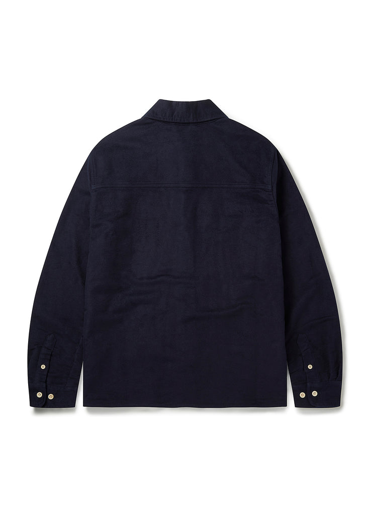 Moleskin Duncan Overshirt in Navy