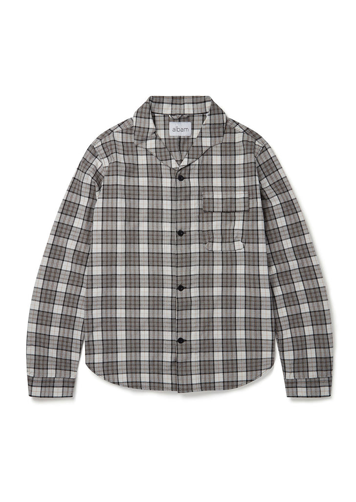 Miles Shirt in Grey Check