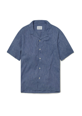Panama Stripe Shirt in Navy