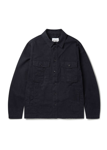 Drill Army Shirt in Navy