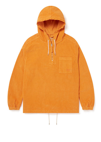 Utility Corduroy Hooded Overshirt in Orange - Exclusive to Albam