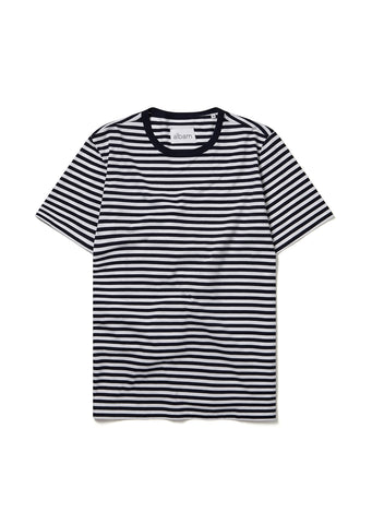 Simple Striped Tee in Navy
