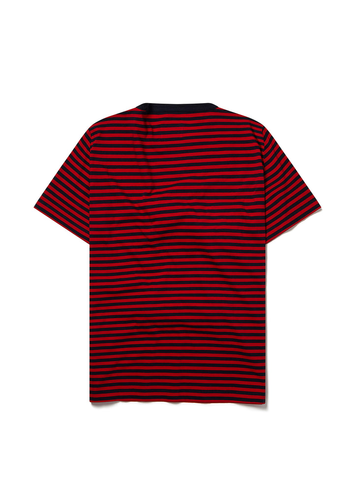 Simple Striped Tee in Red