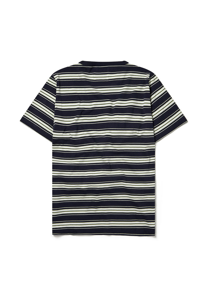 Vintage Stripe Tee in Navy