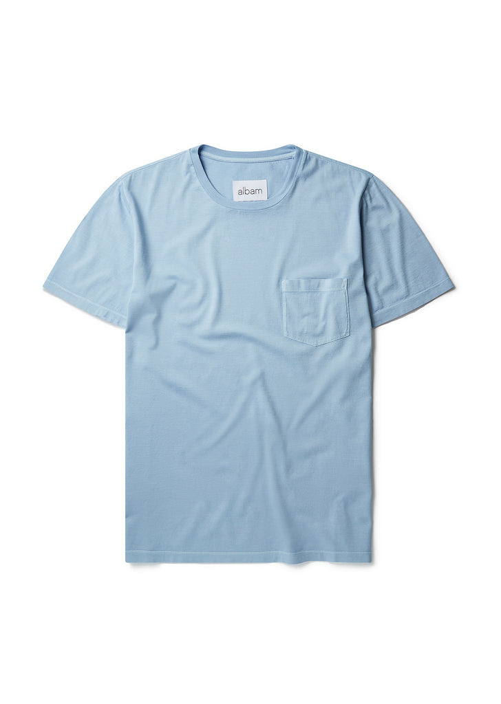 Classic Pocket T-Shirt in Powder Blue