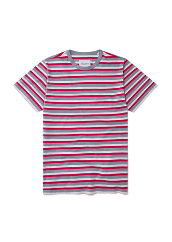 Striped T-Shirt in Raspberry