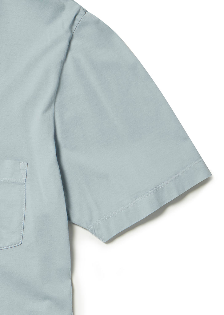Pocket T-Shirt in Light Steel Blue