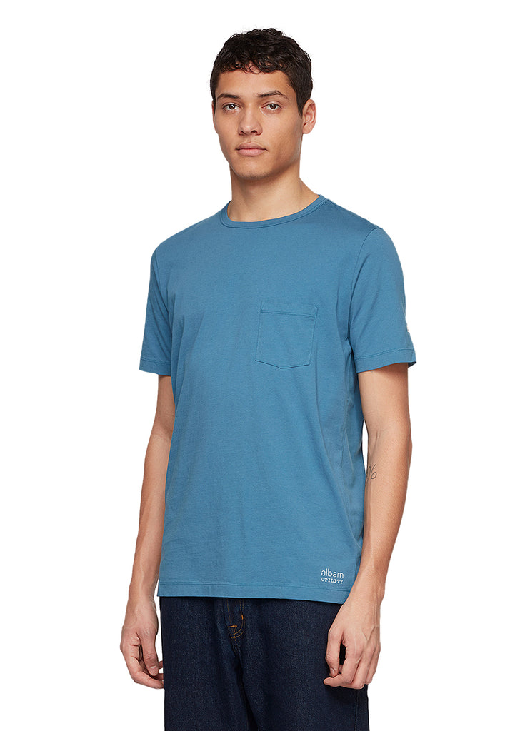 Utility Pocket T-Shirt in Blue