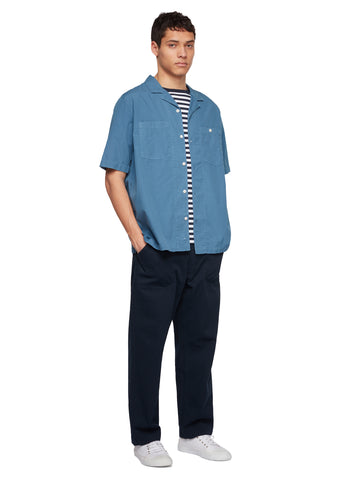 Utility Poplin SS Shirt in Blue