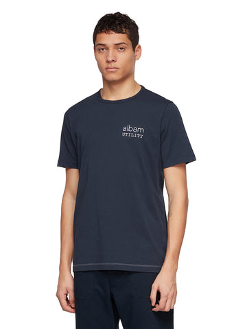 Utility Graphic T-Shirt A in Navy