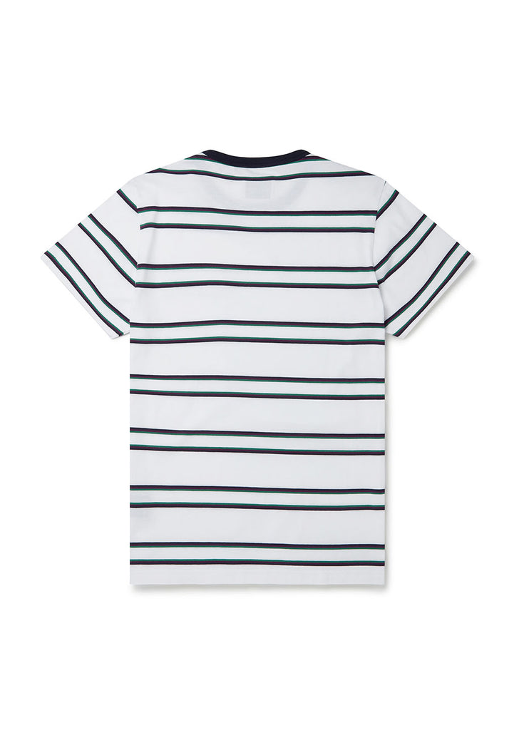 Cuddy Stripe T-Shirt in White