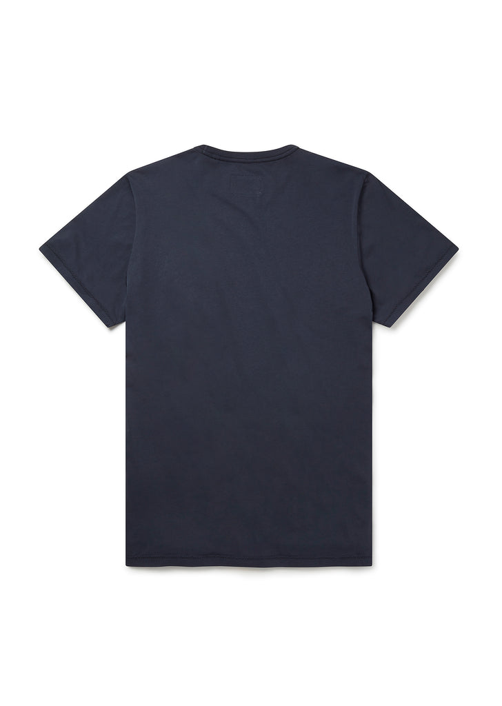 Panel Print T-Shirt in Navy/Yellow