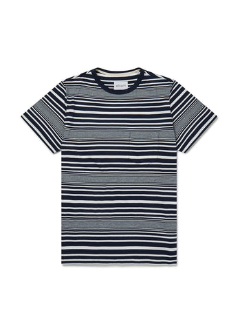 Archive Stripe T-Shirt in Navy/White
