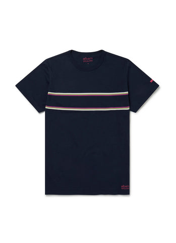 Utility Riders Stripe T-Shirt in Navy