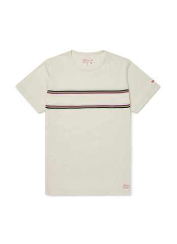 Utility Riders Stripe T-Shirt in White