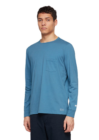 Utility Long Sleeve T-Shirt in Blue