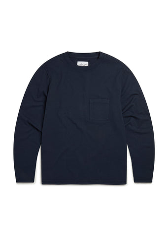 Workwear Long Sleeve T-Shirt in Navy