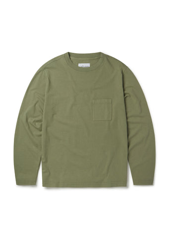 Workwear Long Sleeve T-Shirt in Oil Green
