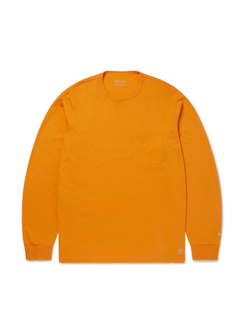 Utility Long Sleeve T-Shirt in Dark Orange