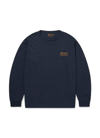 Utility Long Sleeve Graphic T-Shirt in Navy