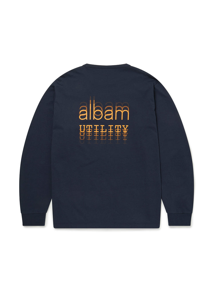 Utility Ls Graphic T-Shirt in Navy
