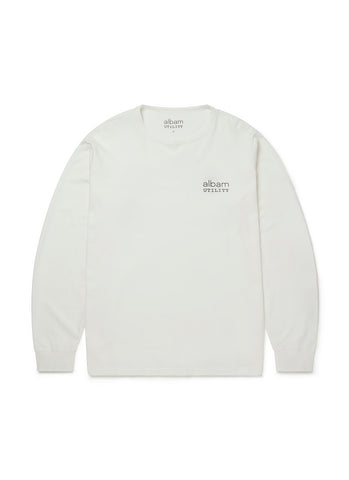 Utility Long Sleeve Graphic T-Shirt in White