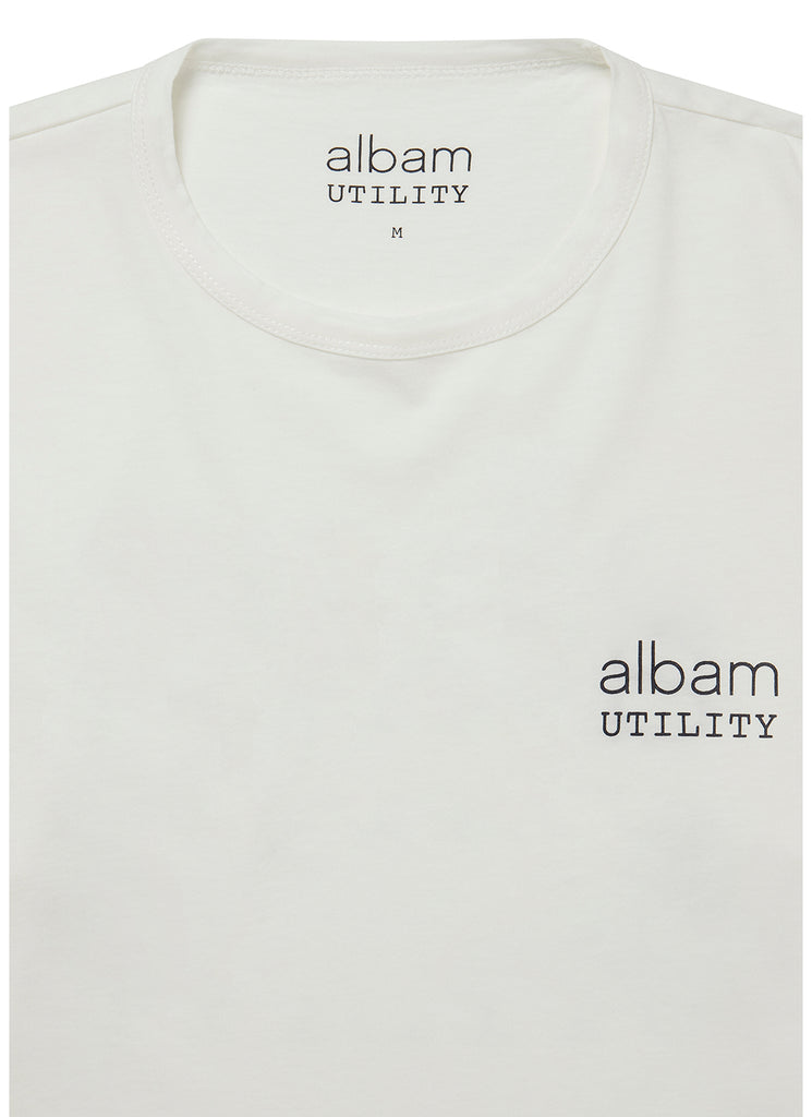 Utility Ls Graphic T-Shirt in White