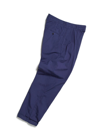 Pleated Parachute Trouser in Navy
