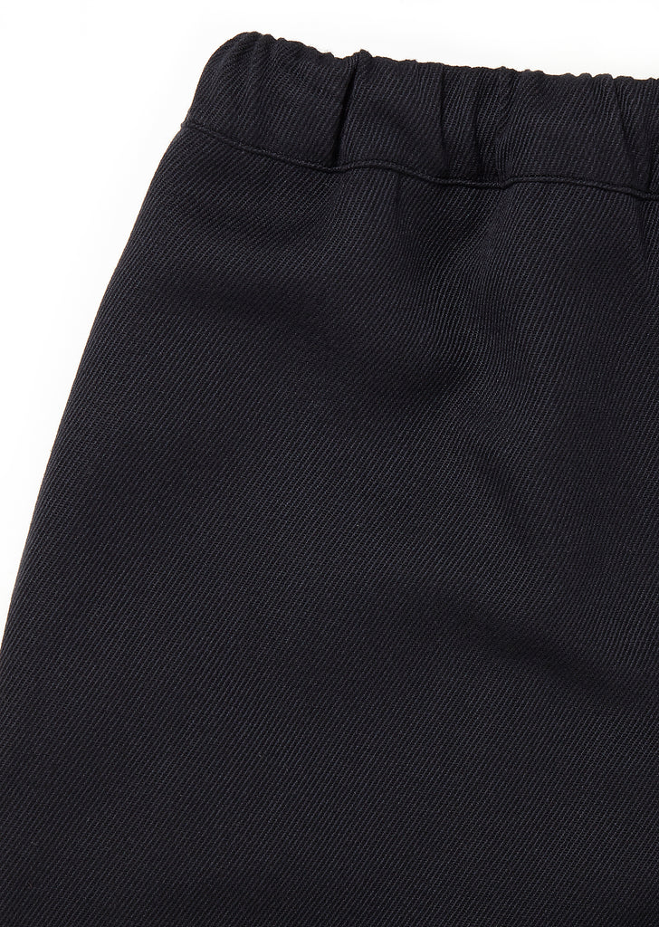 Wool Drawstring Pant in Navy